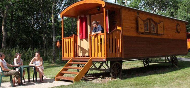 Les roulottes, un hébergement original et rustique
